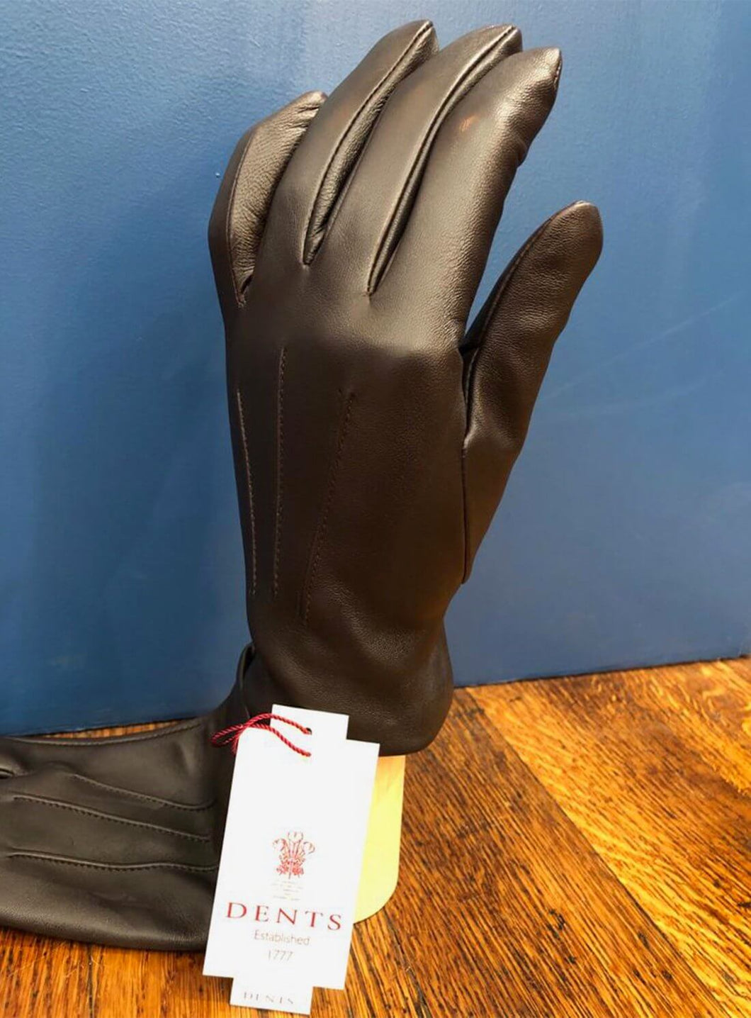 Cashmere Lined Brown Leather Glove