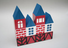 Danish House Wood Building Blocks