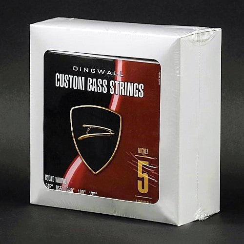 Box of 4 Sets of Strings - Dingwall Long-Scale 5-String Sets - Nickel Plated Steel