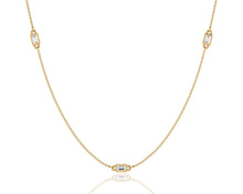 Load image into Gallery viewer, The Baguette Station Necklace