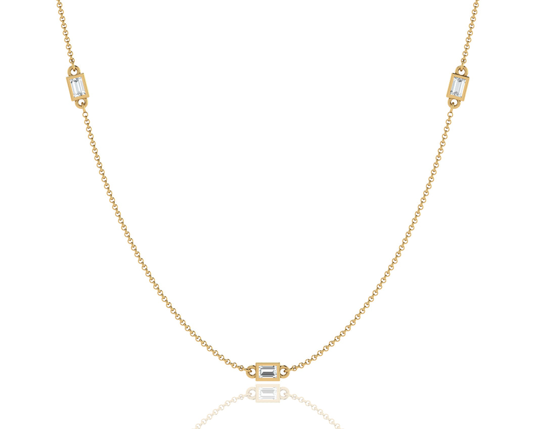 The Baguette Station Necklace