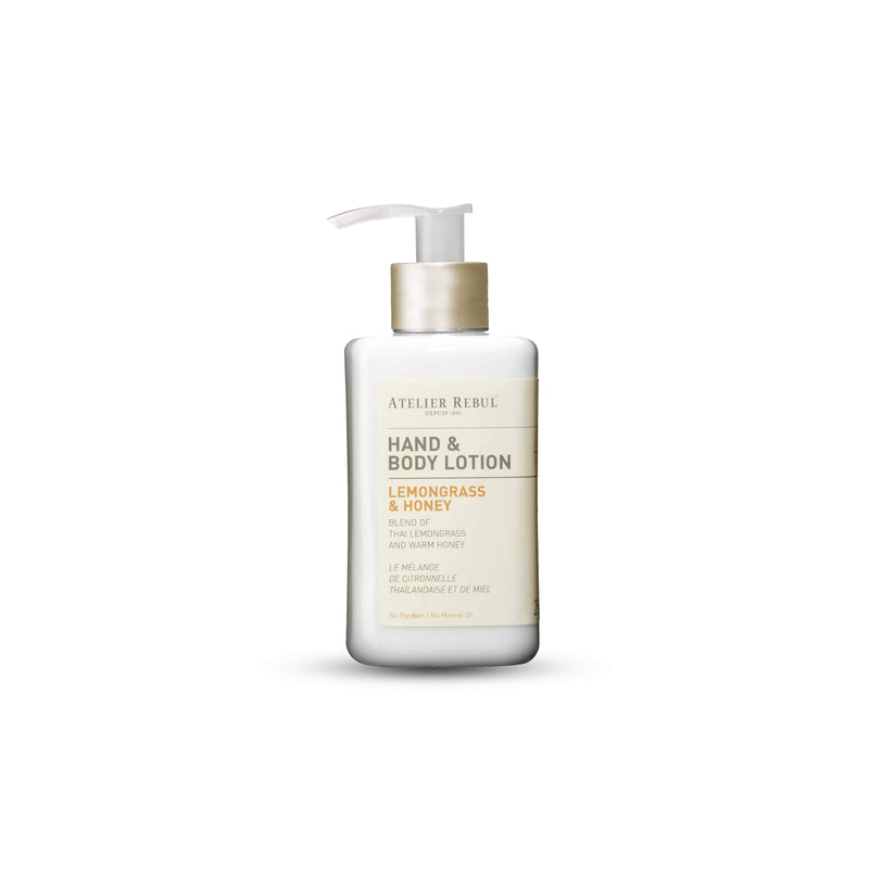 Hand & Body Lotion Lemongrass & Honey 250ml | Atelier Rebul Webshop