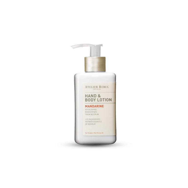 Mandarine Hand & Body Lotion 250ml | Atelier Rebul Webshop