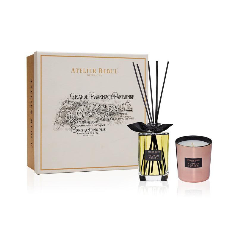 Flower Fusion Fragrance Sticks and Scented Candle Giftset | Atelier Rebul Webshop