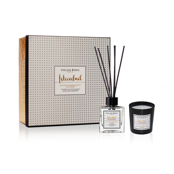 Istanbul Fragrance Sticks and Scented Candle Giftset | Atelier Rebul Webshop