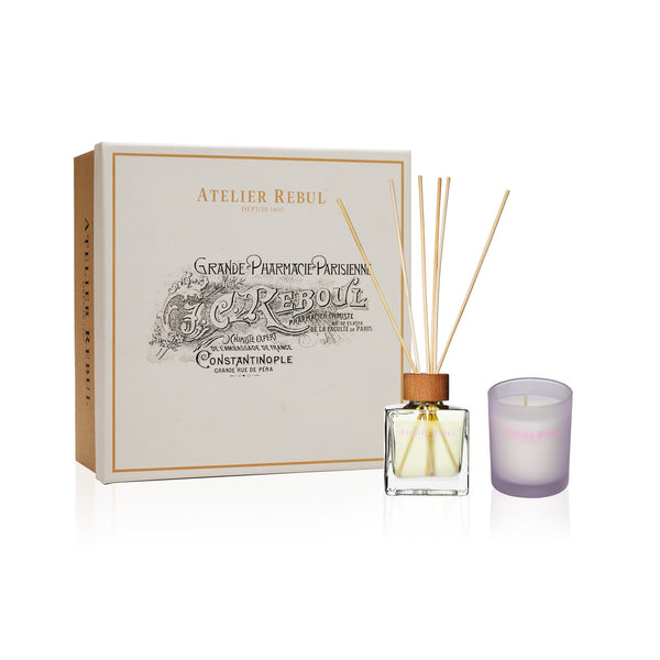 Jasmine Fragrance Sticks and Scented Candle Giftset | Atelier Rebul Webshop