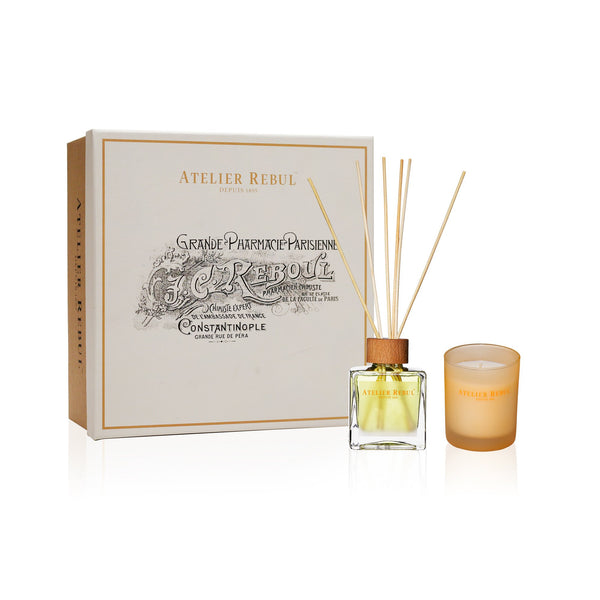 Mandarine Fragrance Sticks and Scented Candle Giftset | Atelier Rebul Webshop