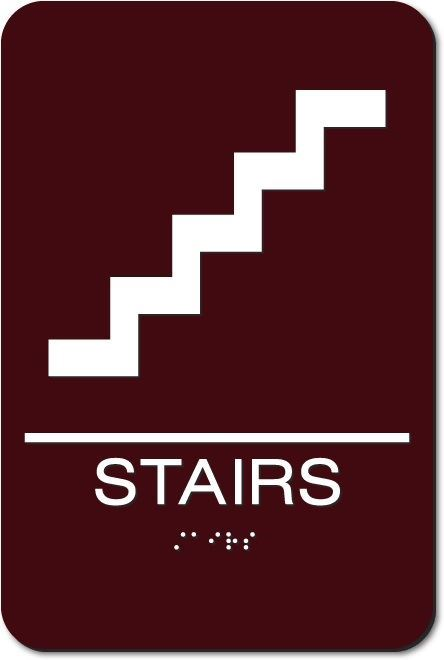 Eaglestone - Stairs Sign, 6x9""
