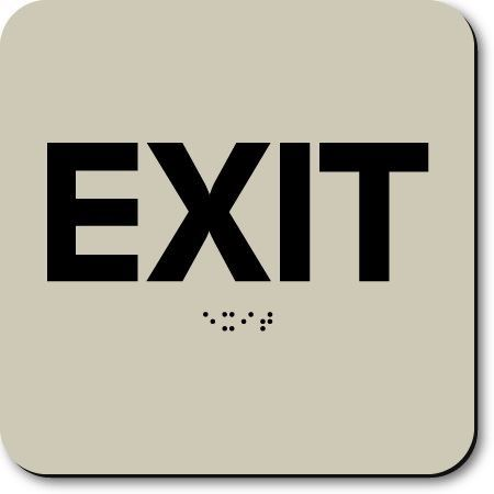 Eaglestone - Exit Sign without Graphic