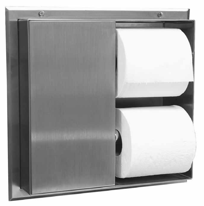 Bobrick B-386 Partition Mounted Toilet Paper Dispensers