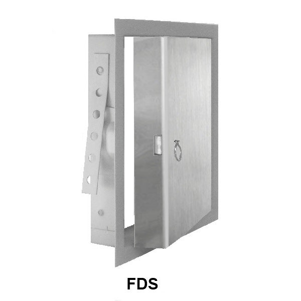 JL Industries FDS Series - Stainless Steel Insulated Fire-Rated Flush Access Panel for Walls OR Ceilings