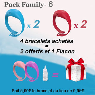 Hydroclean® Bracelet Distributeur de Gel Anti-Septique