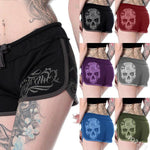Skull Print Casual Short