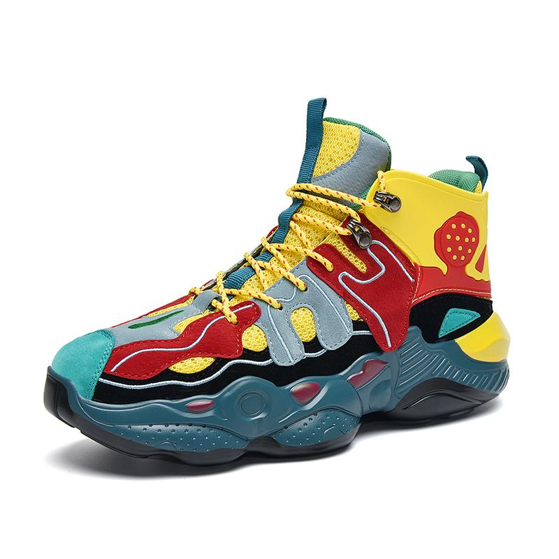 RENEGADE 'War Zone' X9X Sneakers - Yellow/Red/Green