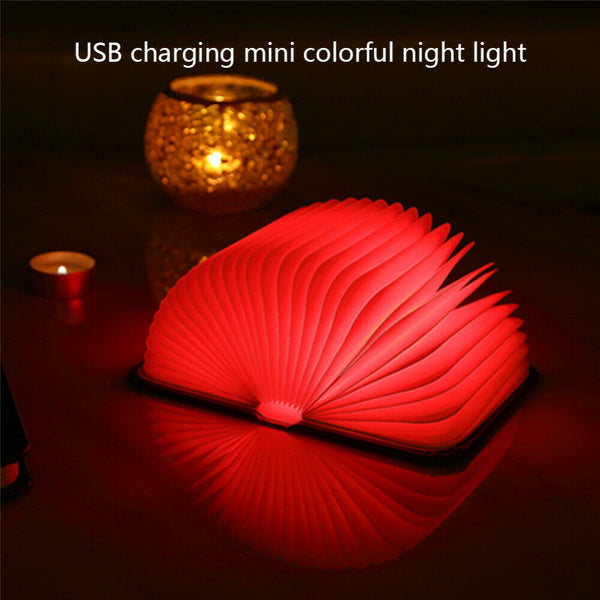 Book shape folding lamp