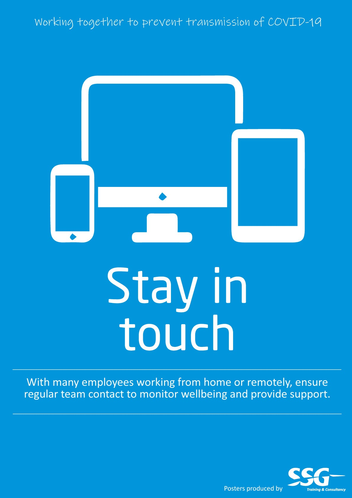 Stay in touch poster