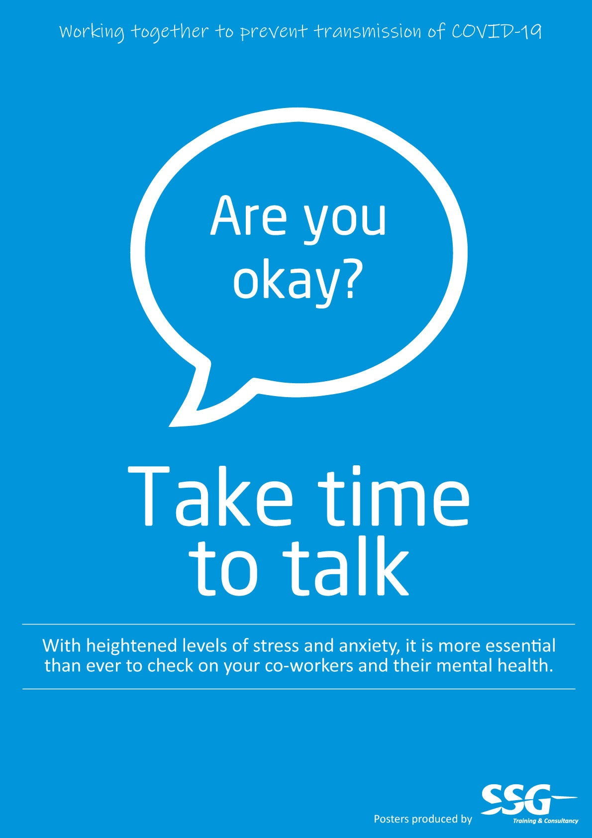 Take time to talk poster
