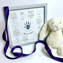 Load image into Gallery viewer, 12 Month Milestone Photo Montage Frame with Handprint
