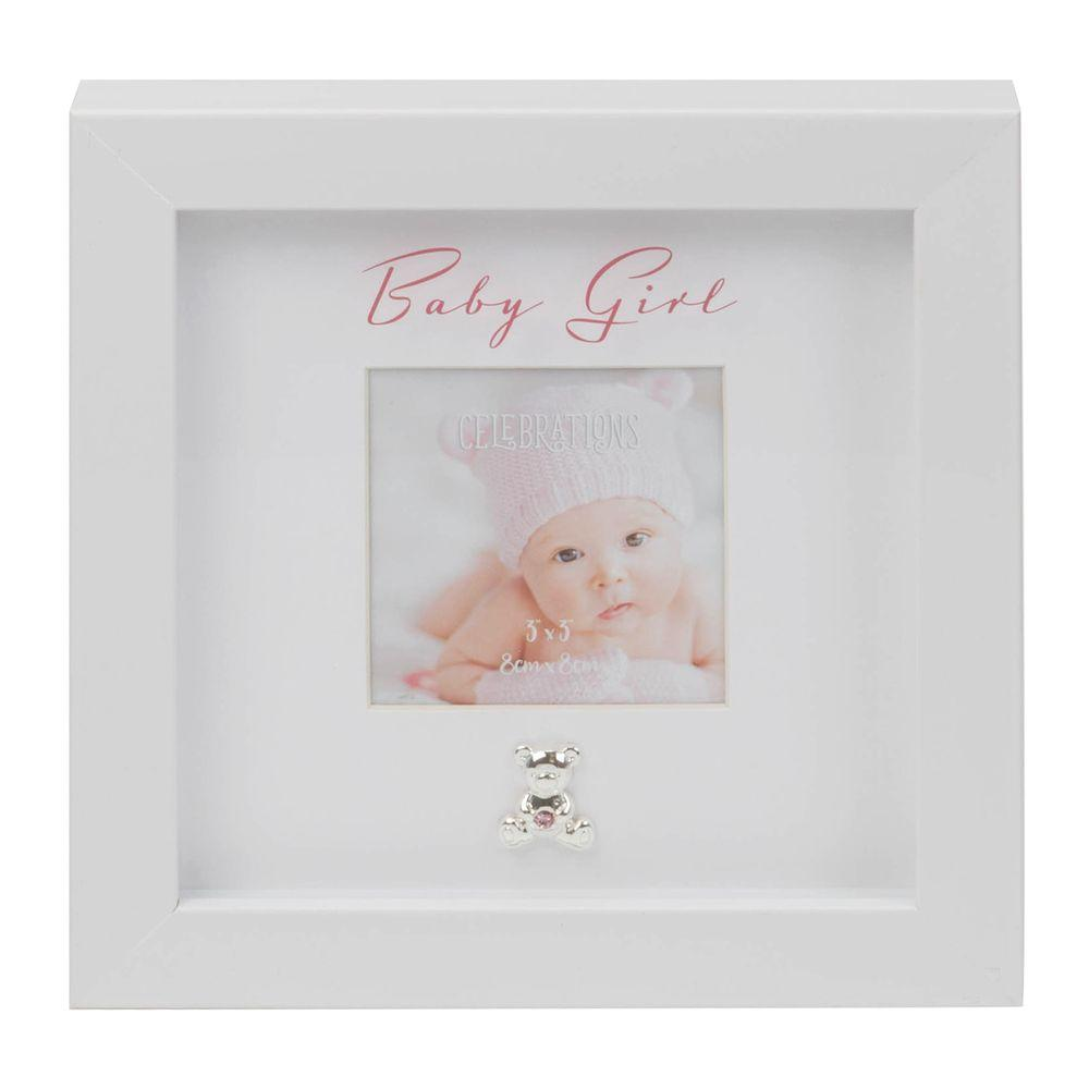Baby Girl Box Frame With Engraving Plate