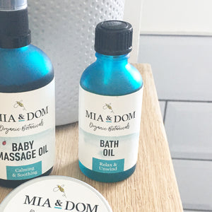 Mia & Dom Organic Bath Oil (50ml)