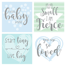 Load image into Gallery viewer, Blue/Green Design NICU Incubator Art (Pack of 8 designs)