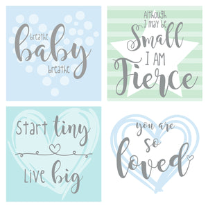 Blue/Green Design NICU Incubator Art (Pack of 8 designs)