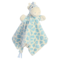 Load image into Gallery viewer, Soft Giraffe Baby Comforter - Blue