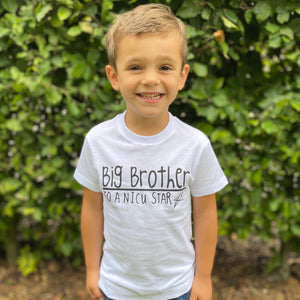 You added 'I'm a Big Brother to a NICU Star' Kids Tshirt to your cart.