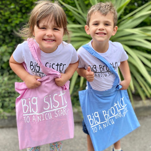 'I'm a Big Sister to a NICU Star' Bag