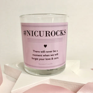 #NICU ROCKS Scented Keepsake Candle