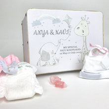 Load image into Gallery viewer, Personalised White Animal Friends Keepsake Box