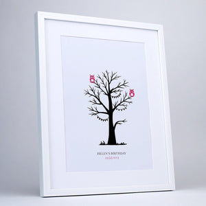You added Fingerprint Tree, Personalised, Pink Owls to your cart.