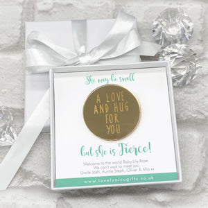 Mirrored A Love & A Hug Token Personalised Gift Box - Various Supportive Messages