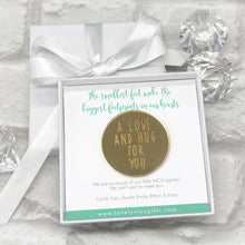 Load image into Gallery viewer, Mirrored A Love & A Hug Token Personalised Gift Box - Various Supportive Messages