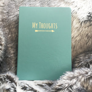 'My Thoughts' Leatherette Journal