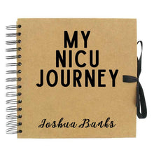 Load image into Gallery viewer, Personalised My NICU Journey Scrapbook (Kraft, White)
