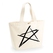 Load image into Gallery viewer, NICU ROCKS Star Tote Bag