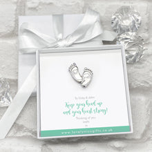 Load image into Gallery viewer, Baby Feet Token Personalised Gift Box - Various Messages