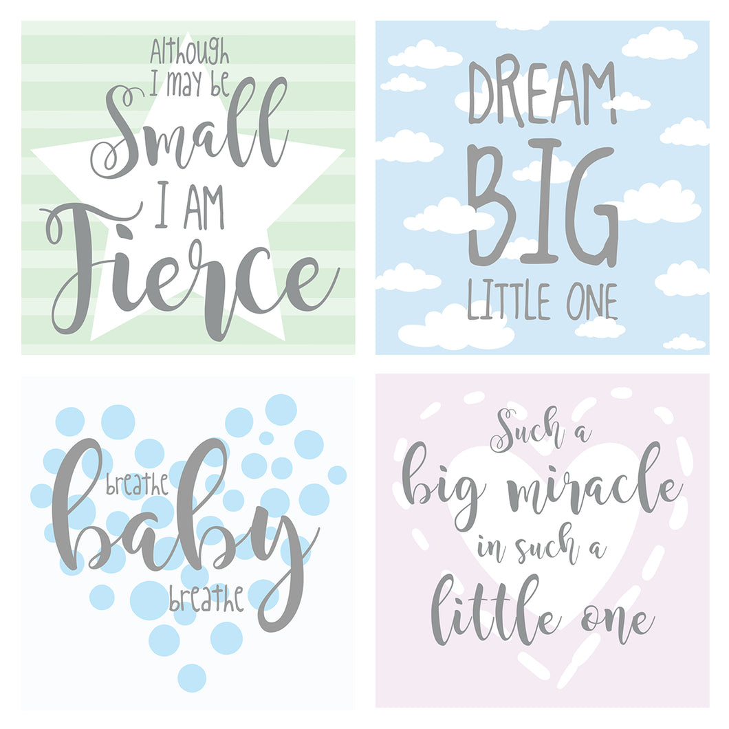 Neutral Design NICU Incubator Art (Pack of 8)