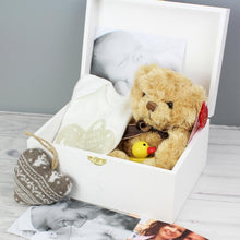 Load image into Gallery viewer, Personalised Twinkle Twinkle White Wooden Keepsake Box
