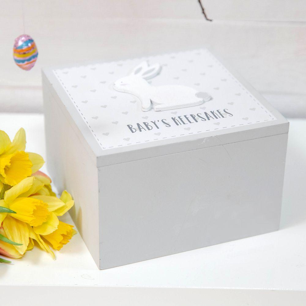 Petit Cheri Grey Baby's Keepsake Box