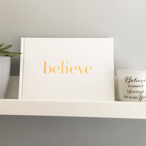 You added 'Believe' Supportive Hardback Gift Book to your cart.