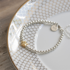 You added Personalised Sterling Silver and Gold Star Bracelet to your cart.