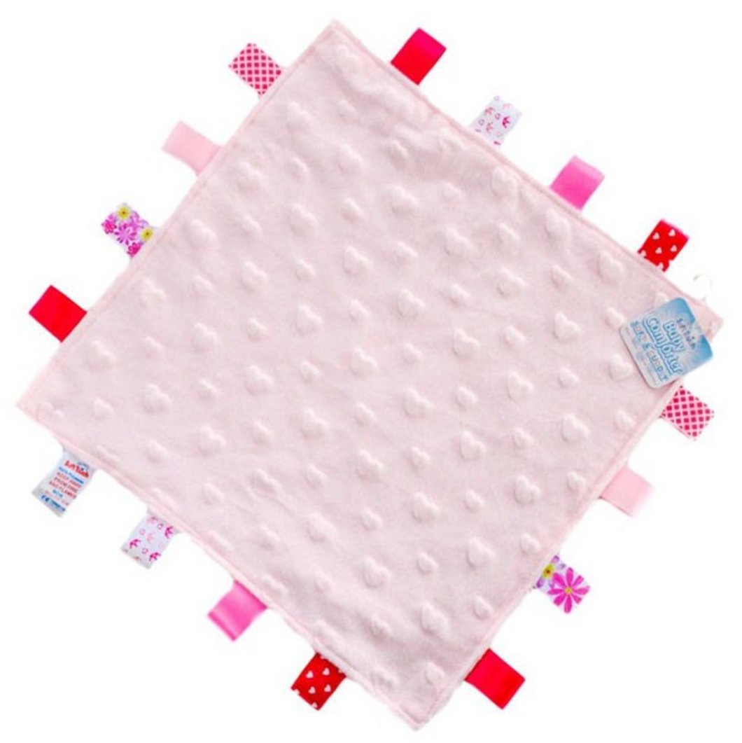 Pink Hearts Taggie Comforter