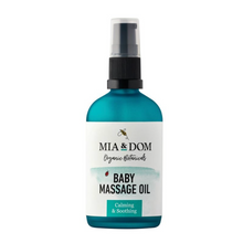 Load image into Gallery viewer, Mia & Dom Organic Baby Massage Oil (100ml)