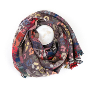 You added Taupe Jacquard Animal Print Scarf - Multicoloured to your cart.