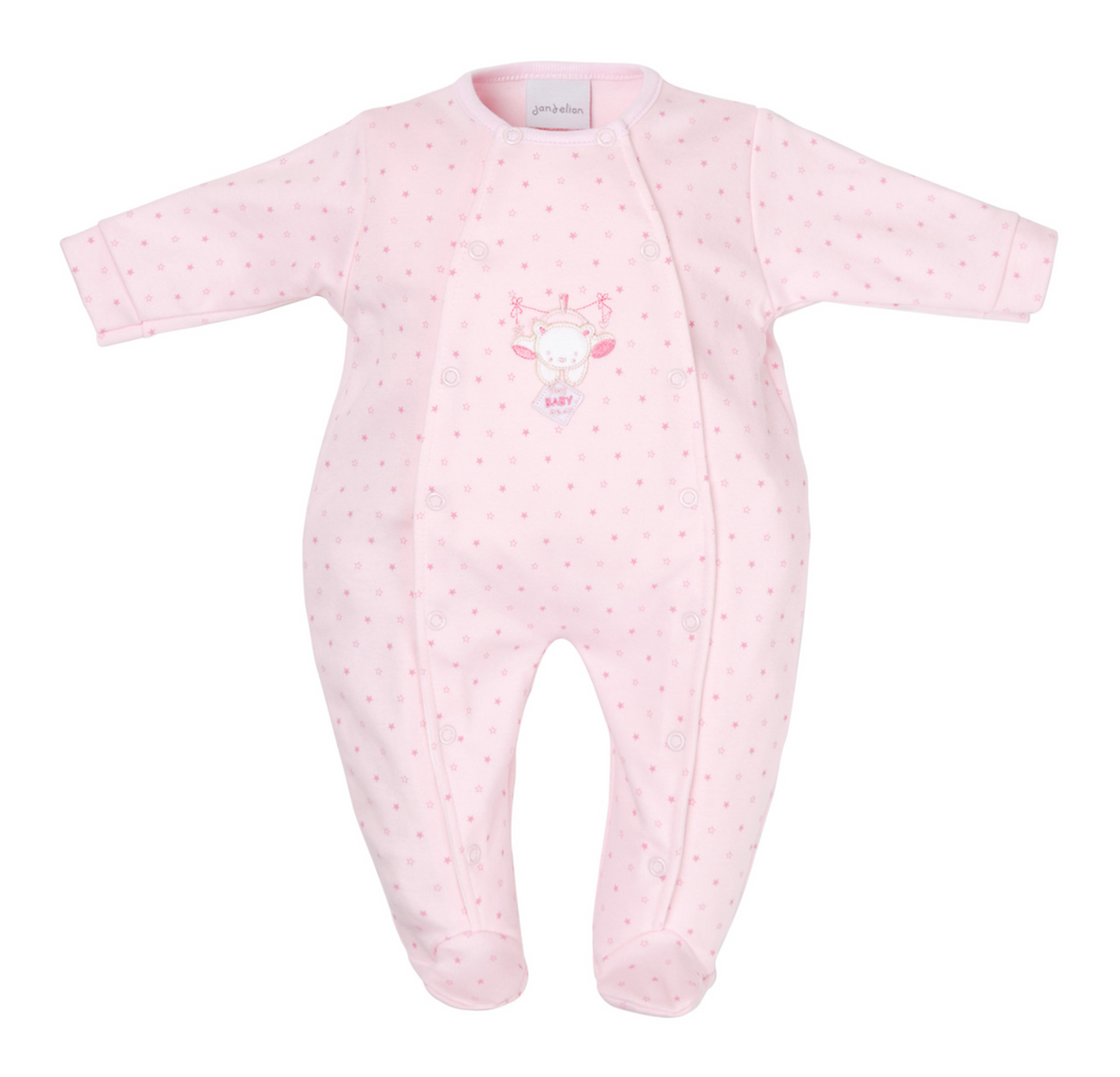 Tiny Baby Bear Star Baby Grow - White, Pink, Blue