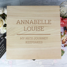 Load image into Gallery viewer, Any Message Personalised Wooden Keepsake Box
