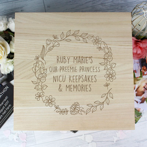 You added Personalised Floral Wreath Large Wooden Keepsake Box to your cart.