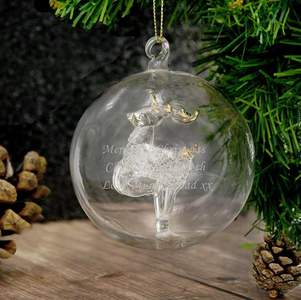 You added Personalised Christmas Glass Bauble - Reindeer, Tree, Angel, LED Angel to your cart.